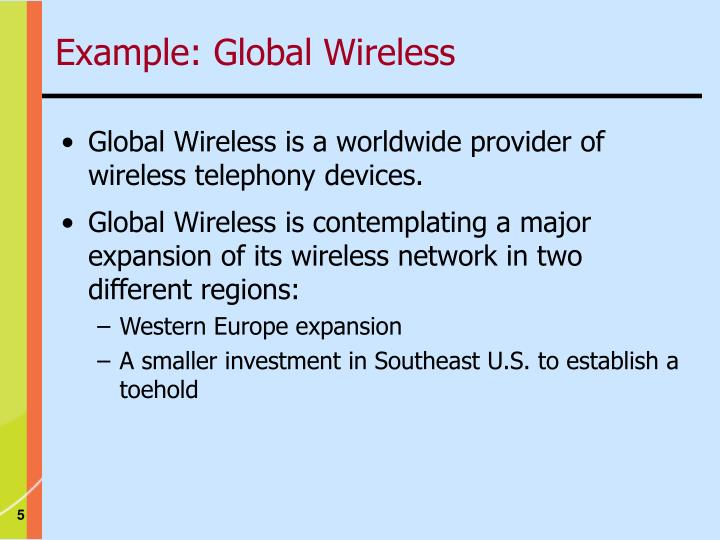 Example: Global Wireless