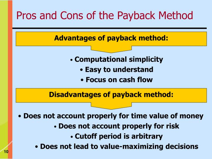 Advantages of payback method: