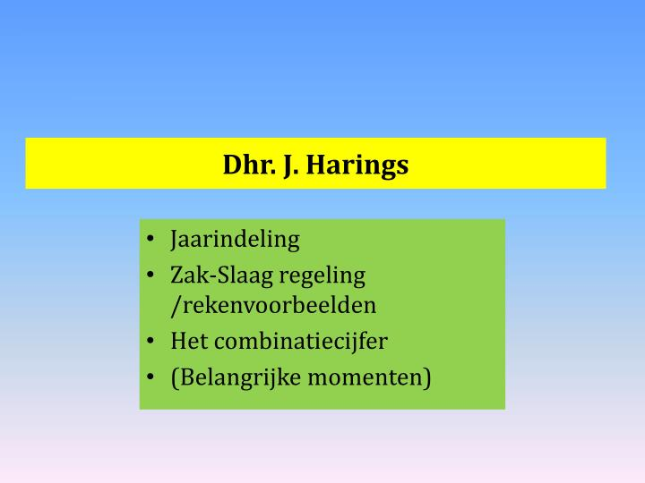Dhr. J. Harings