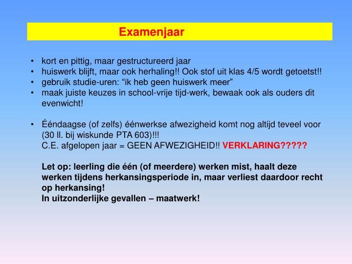 Examenjaar