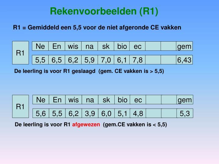 Rekenvoorbeelden (R1)