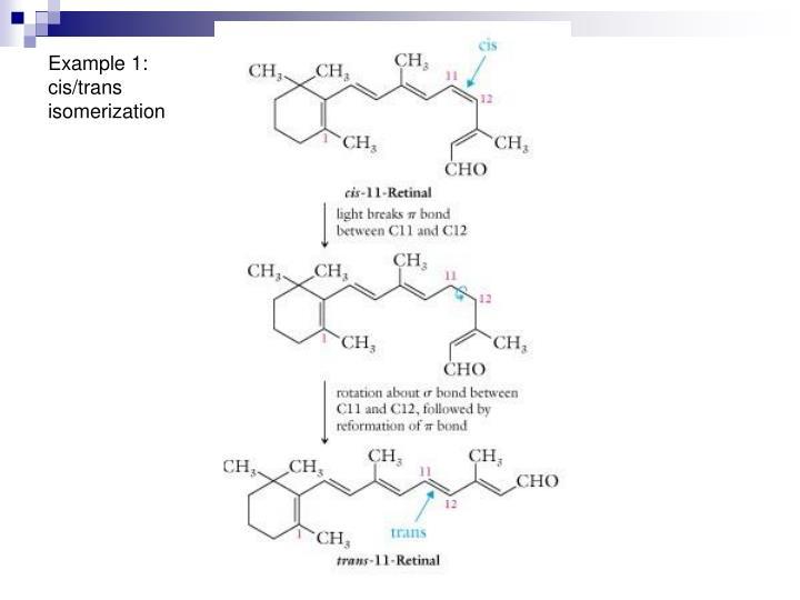 Example 1: cis/trans isomerization