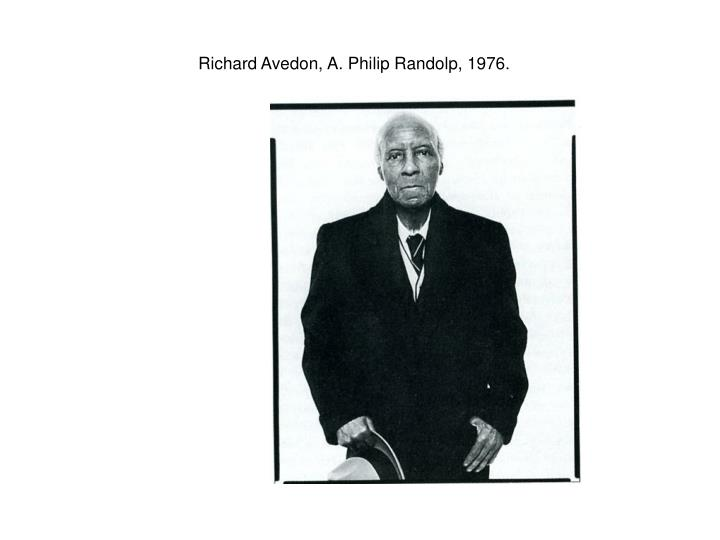Richard Avedon, A. Philip Randolp, 1976.