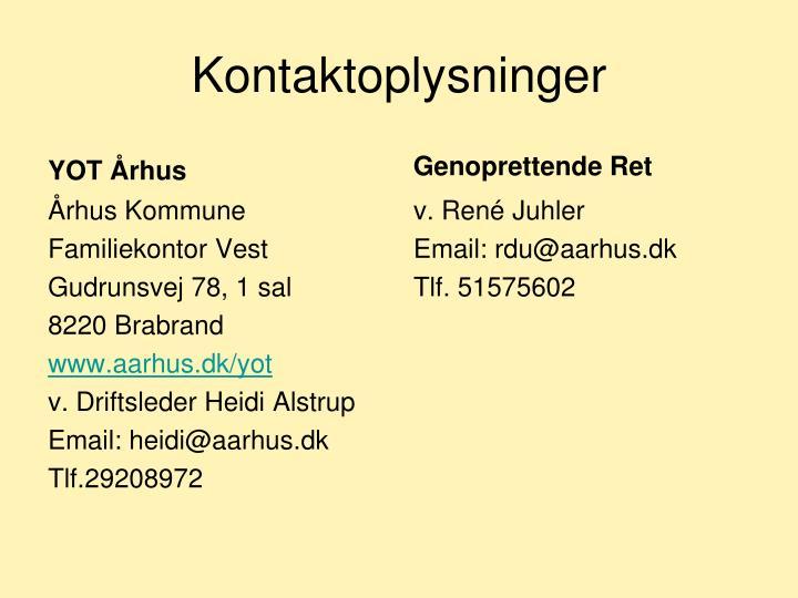 Kontaktoplysninger