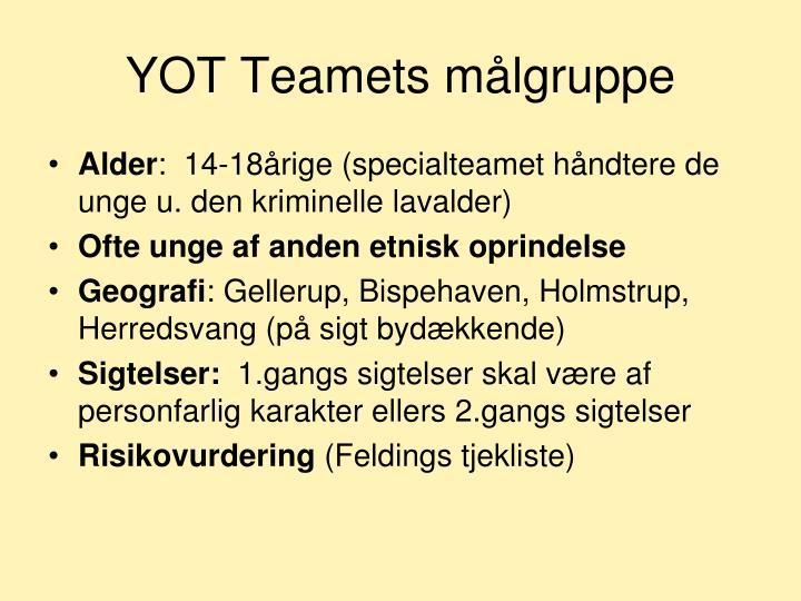YOT Teamets målgruppe
