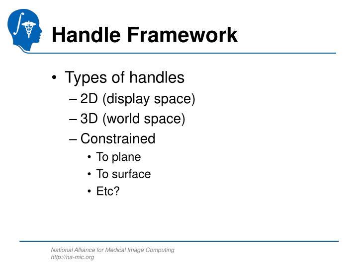 Handle Framework
