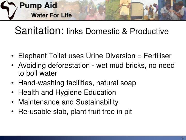 Sanitation: