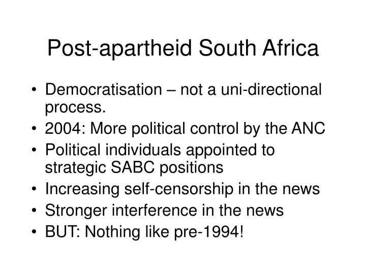Post-apartheid South Africa
