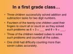 in a first grade class