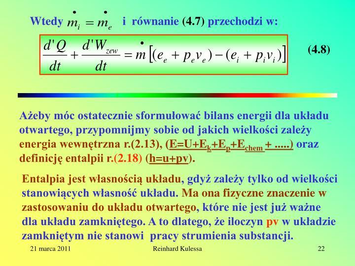 Wtedy                    i  równanie