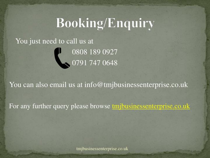 Booking/Enquiry