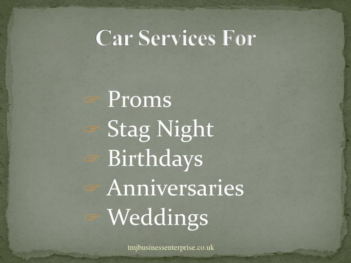 Car Services For
