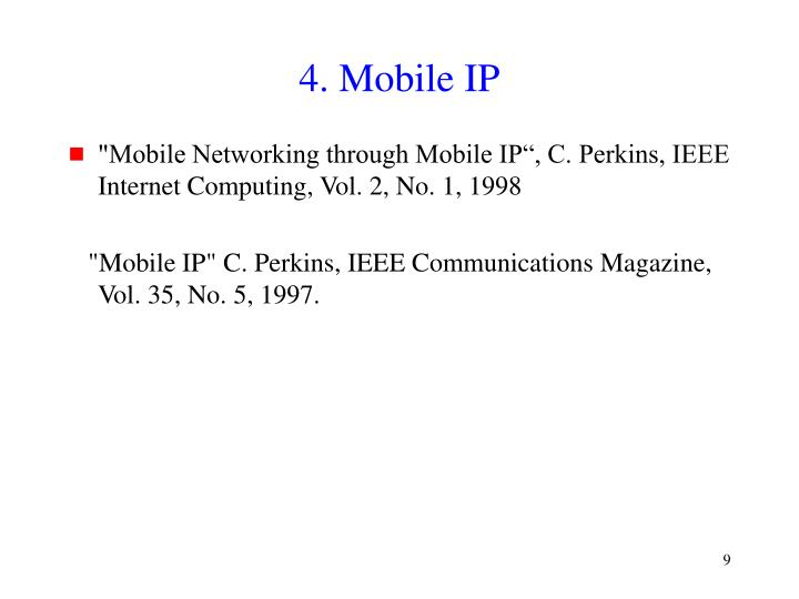 4. Mobile IP