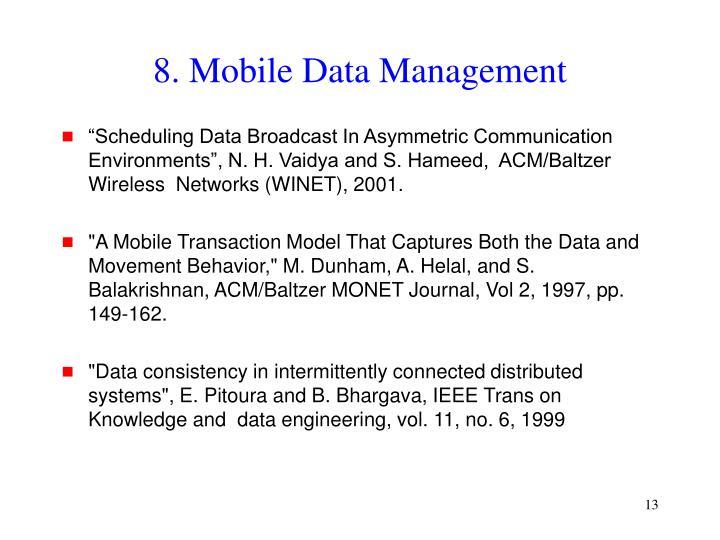 8. Mobile Data Management