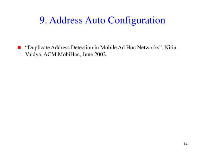 9. Address Auto Configuration