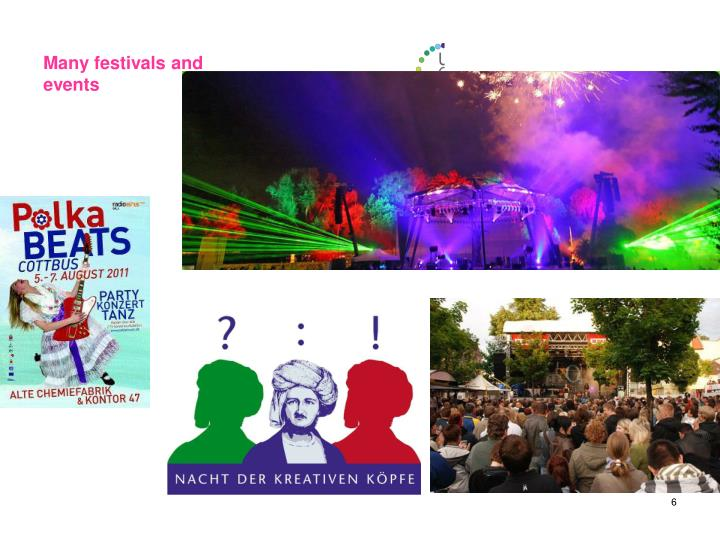 Many festivals and events