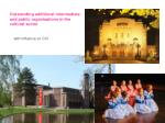 outstanding additional intermediate and public organisations in the cultural sector
