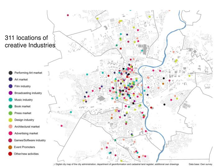 311 locations of creative Industries