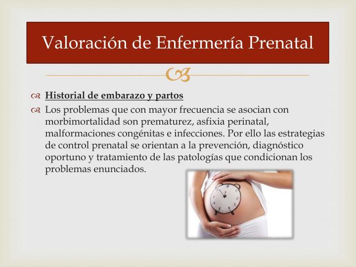 Valoración de Enfermería Prenatal