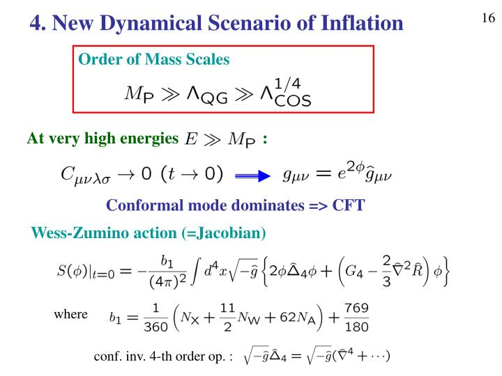4. New Dynamical Scenario of Inflation