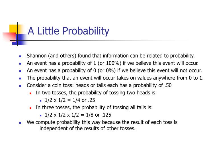 A Little Probability