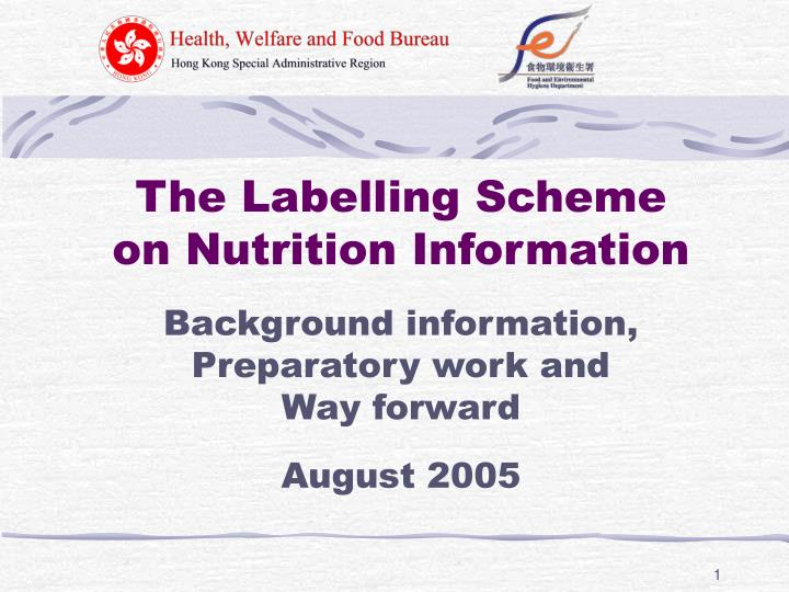 The Labelling Scheme