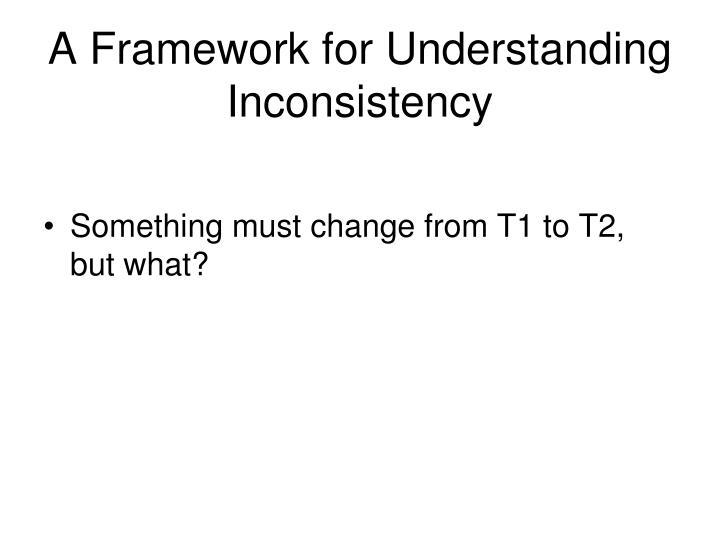 A Framework for Understanding Inconsistency