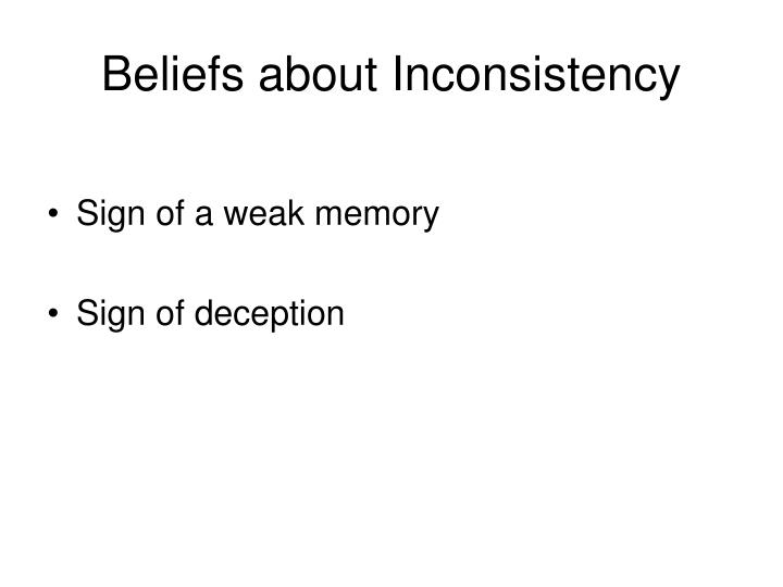 Beliefs about Inconsistency