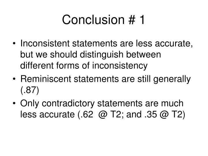 Conclusion # 1