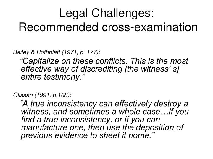 Legal Challenges: