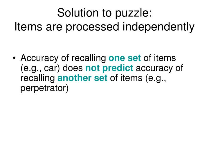 Solution to puzzle: