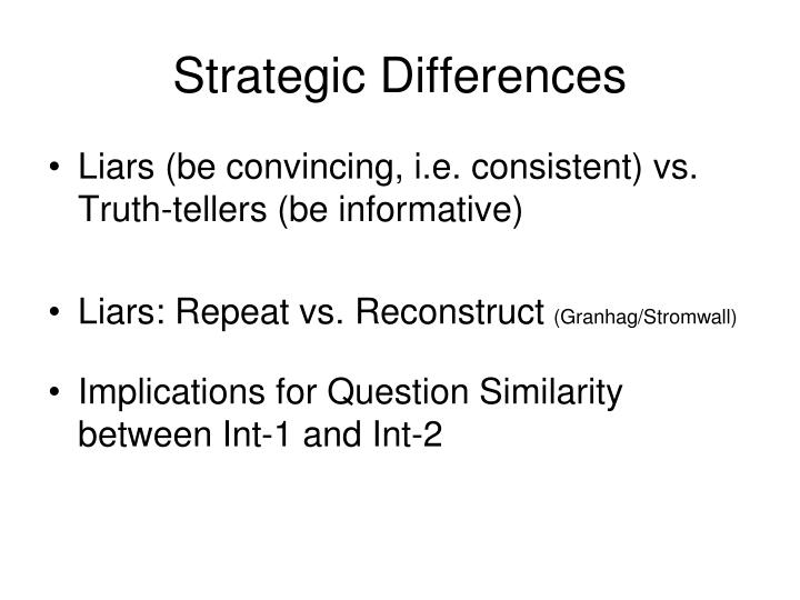 Strategic Differences