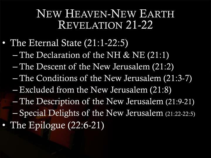 New Heaven-New Earth Revelation 21-22
