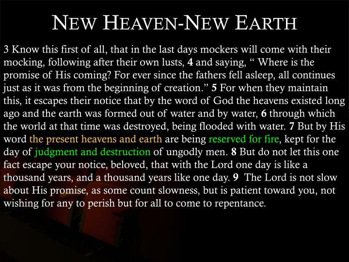 New Heaven-New Earth