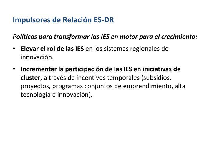 Impulsores de Relación ES-DR