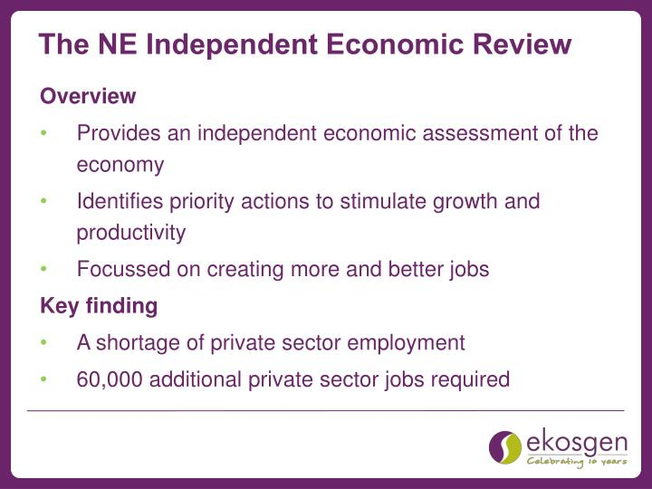 The NE Independent Economic Review