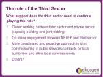 the role of the third sector1