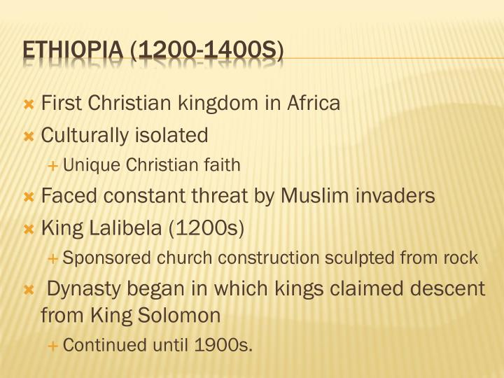 First Christian kingdom in Africa