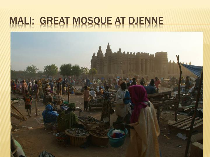 Mali:  Great mosque At