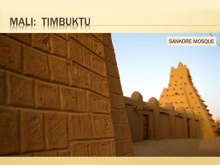 Mali:  Timbuktu