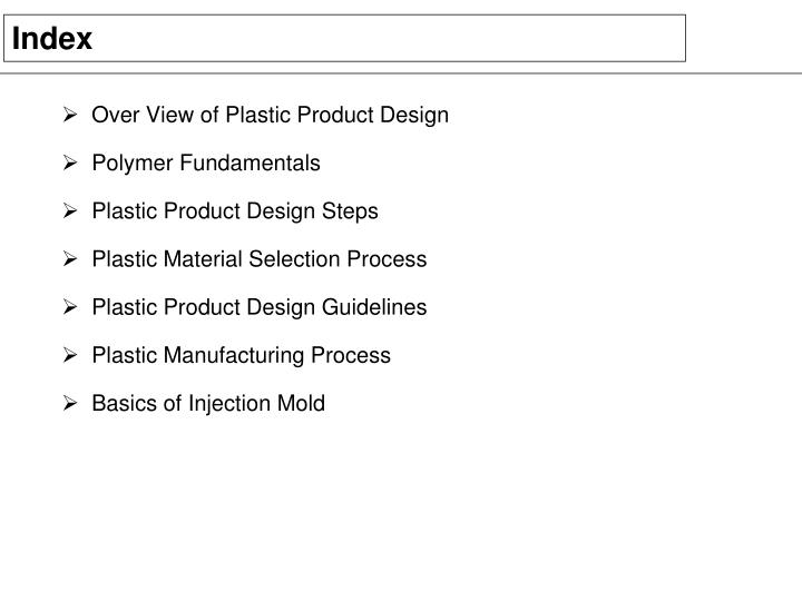 Over View of Plastic Product Design