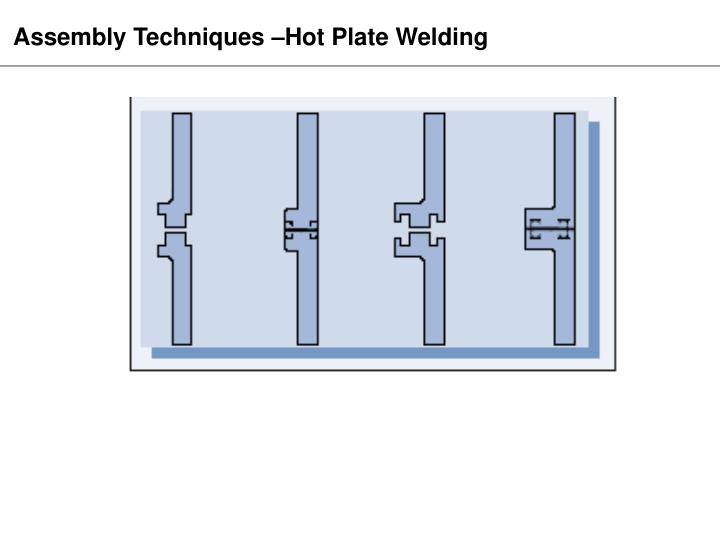 Assembly Techniques –Hot Plate Welding