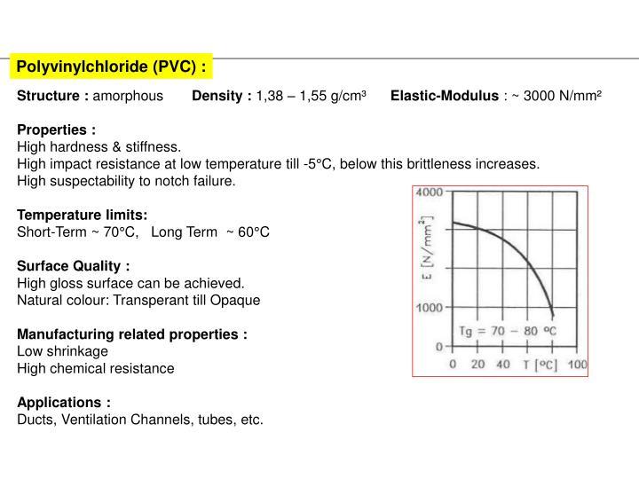 Polyvinylchloride (PVC) :