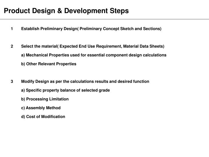 Product Design & Development Steps