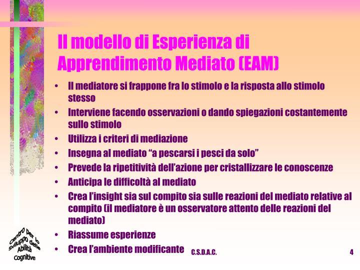 Il modello di Esperienza di Apprendimento Mediato (EAM)