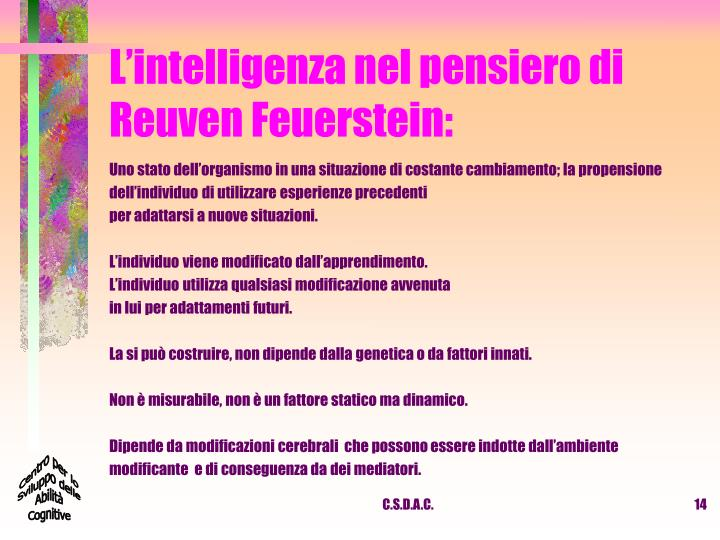 L'intelligenza nel pensiero di Reuven Feuerstein: