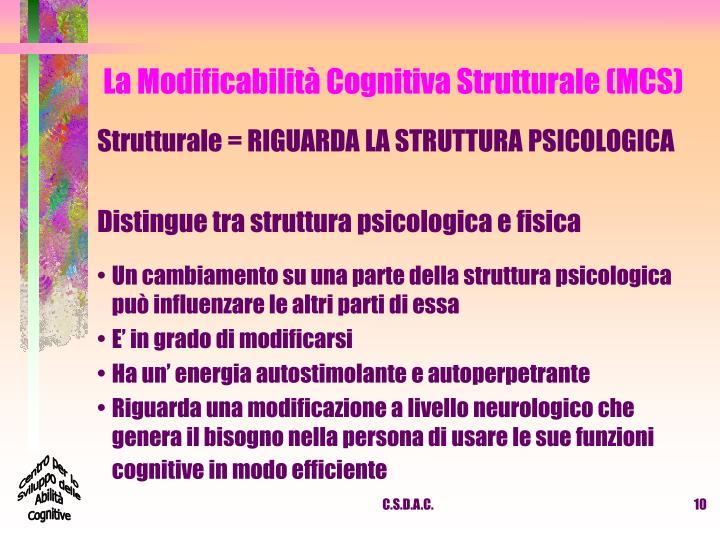 La Modificabilità Cognitiva Strutturale (MCS)