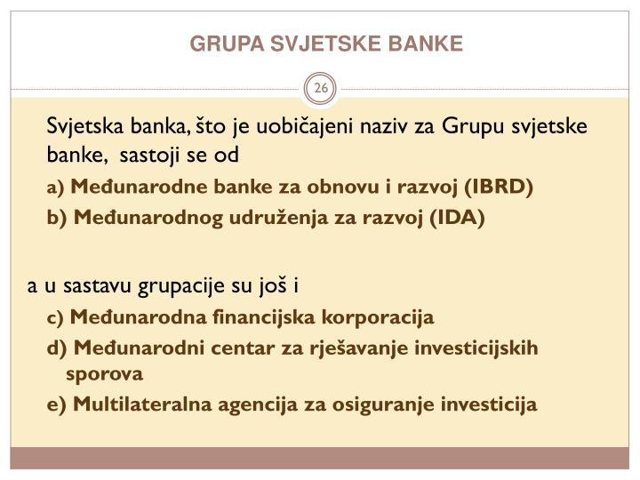 GRUPA SVJETSKE BANKE
