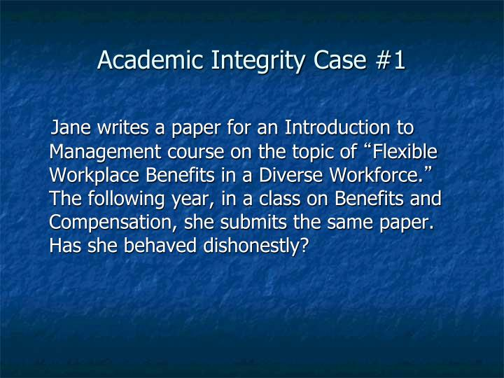 Academic Integrity Case #1