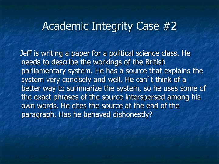 Academic Integrity Case #2